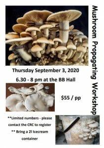 Mushroom Propagating Bremer Bay CRC WA