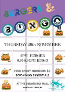 Burgers & Bingo November